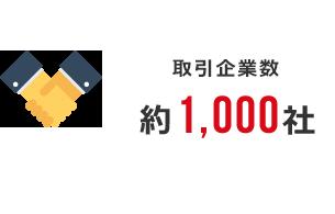 取引企業数:約1,000社