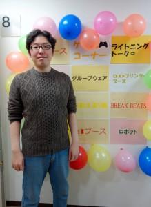 発起人のプロエンジニア木村憲規さん(関西支店)。オープニングでは、木村さんよりイベント趣旨が説明されました。